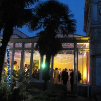 The conservatory as night fell